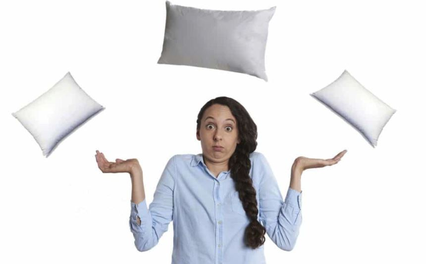 Woman confused about which pillows to buy