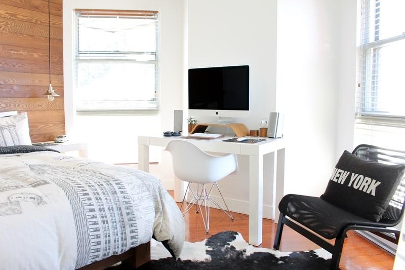Bedroom design with work area