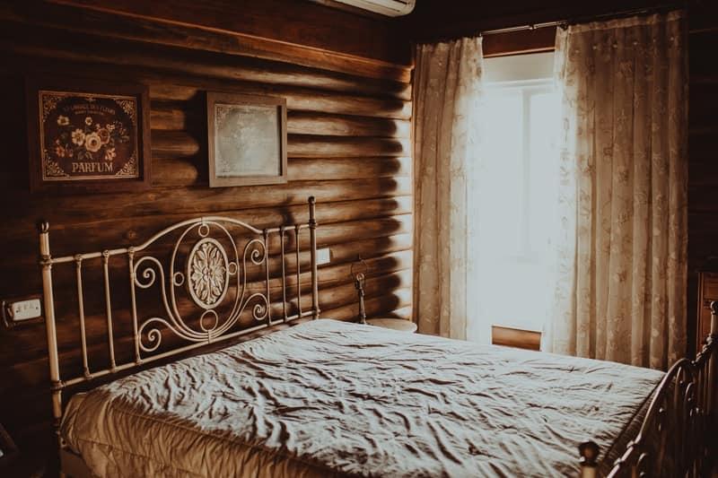 Rustic bedroom for guests