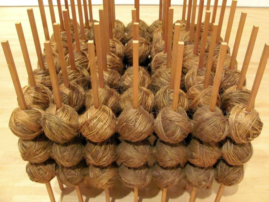 Twine made from hemp to make wood
