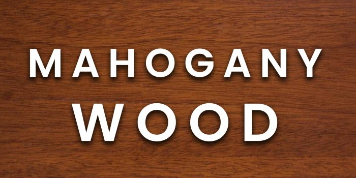 Mahogany wood example