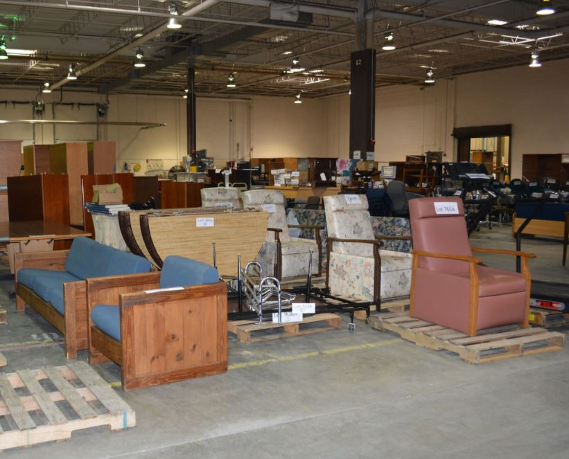 Furniture Stored in Warehouse