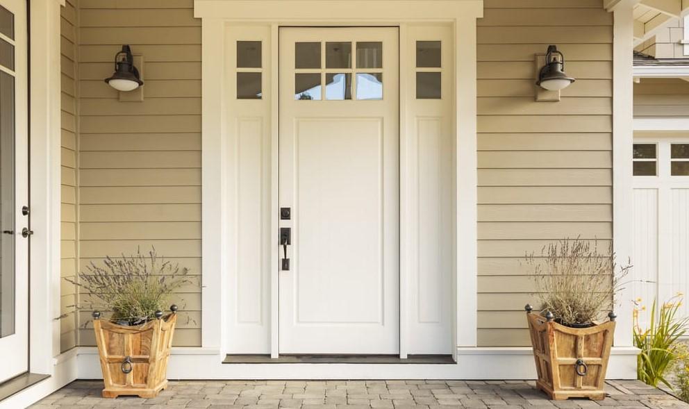 Beautiful tall narrow door